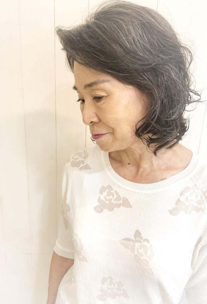 武蔵新城美容室PEACE HAIRパーマ マダム